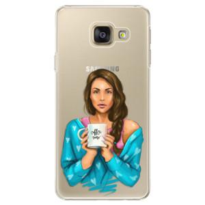 Plastové pouzdro iSaprio Coffe Now Brunette na mobil Samsung Galaxy A5 2016
