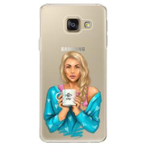 Plastové pouzdro iSaprio Coffe Now Blond na mobil Samsung Galaxy A5 2016