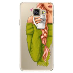 Plastové pouzdro iSaprio My Coffe and Redhead Girl na mobil Samsung Galaxy A5 2016