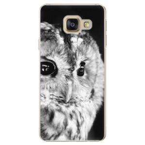 Plastové pouzdro iSaprio BW Owl na mobil Samsung Galaxy A5 2016