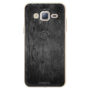 Plastové pouzdro iSaprio Black Wood 13 na mobil Samsung Galaxy J3 2016