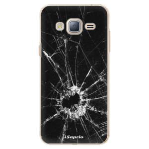 Plastové pouzdro iSaprio Broken Glass 10 na mobil Samsung Galaxy J3 2016