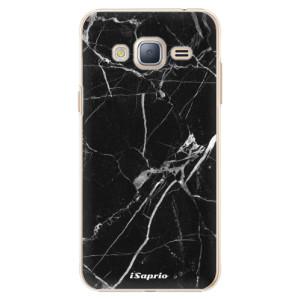 Plastové pouzdro iSaprio Black Marble 18 na mobil Samsung Galaxy J3 2016