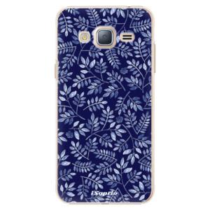 Plastové pouzdro iSaprio Blue Leaves 05 na mobil Samsung Galaxy J3 2016