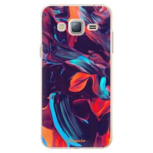 Plastové pouzdro iSaprio Color Marble 19 na mobil Samsung Galaxy J3 2016