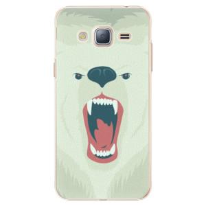 Plastové pouzdro iSaprio Angry Bear na mobil Samsung Galaxy J3 2016