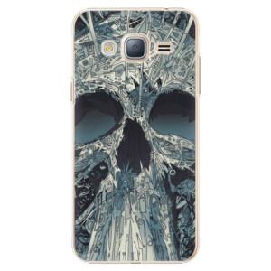 Plastové pouzdro iSaprio Abstract Skull na mobil Samsung Galaxy J3 2016