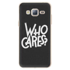 Plastové pouzdro iSaprio Who Cares na mobil Samsung Galaxy J3 2016