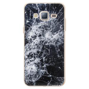 Plastové pouzdro iSaprio Cracked na mobil Samsung Galaxy J3 2016