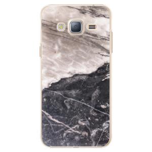 Plastové pouzdro iSaprio BW Marble na mobil Samsung Galaxy J3 2016