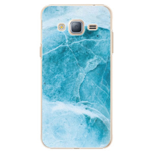Plastové pouzdro iSaprio Blue Marble na mobil Samsung Galaxy J3 2016