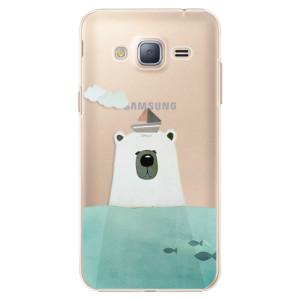 Plastové pouzdro iSaprio Bear With Boat na mobil Samsung Galaxy J3 2016
