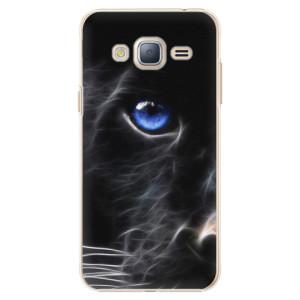 Plastové pouzdro iSaprio Black Puma na mobil Samsung Galaxy J3 2016