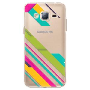 Plastové pouzdro iSaprio Color Stripes 03 na mobil Samsung Galaxy J3 2016