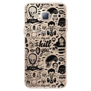 Plastové pouzdro iSaprio Comics 01 black na mobil Samsung Galaxy J3 2016