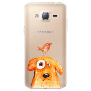Plastové pouzdro iSaprio Dog And Bird na mobil Samsung Galaxy J3 2016
