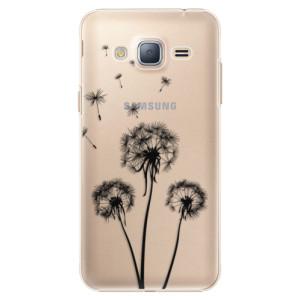 Plastové pouzdro iSaprio Three Dandelions black na mobil Samsung Galaxy J3 2016