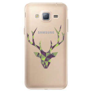 Plastové pouzdro iSaprio Deer Green na mobil Samsung Galaxy J3 2016