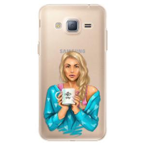 Plastové pouzdro iSaprio Coffe Now Blond na mobil Samsung Galaxy J3 2016