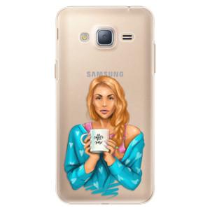 Plastové pouzdro iSaprio Coffe Now Redhead na mobil Samsung Galaxy J3 2016
