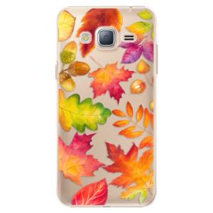 Plastové pouzdro iSaprio Autumn Leaves 01 na mobil Samsung Galaxy J3 2016