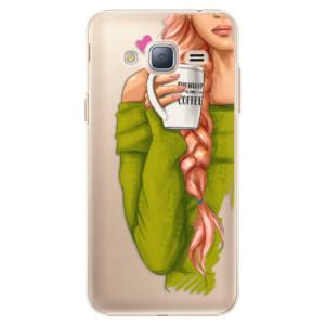 Plastové pouzdro iSaprio My Coffe and Redhead Girl na mobil Samsung Galaxy J3 2016