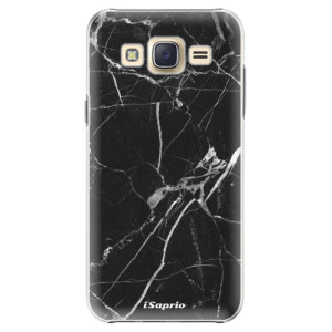 Plastové pouzdro iSaprio Black Marble 18 na mobil Samsung Galaxy J5