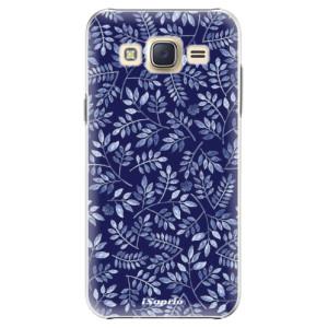 Plastové pouzdro iSaprio Blue Leaves 05 na mobil Samsung Galaxy J5
