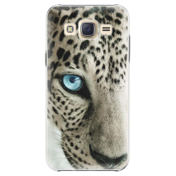 Plastové pouzdro iSaprio white Panther na mobil Samsung Galaxy J5 (Plastový obal, kryt, pouzdro iSaprio white Panther na mobilní telefon Samsung Galaxy J5)