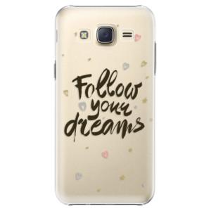Plastové pouzdro iSaprio Follow Your Dreams black na mobil Samsung Galaxy J5