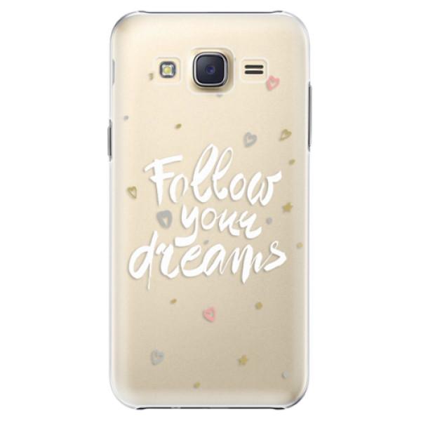 Plastové pouzdro iSaprio Follow Your Dreams white na mobil Samsung Galaxy J5 (Plastový obal, kryt, pouzdro iSaprio Follow Your Dreams white na mobilní telefon Samsung Galaxy J5)
