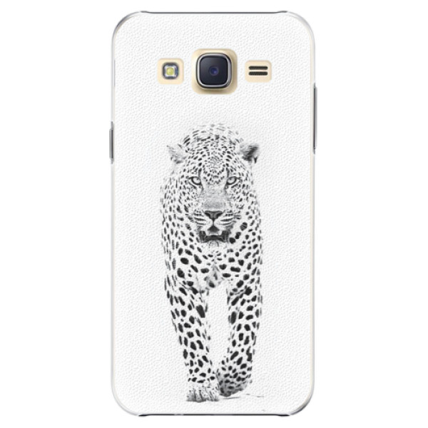 Plastové pouzdro iSaprio white Jaguar na mobil Samsung Galaxy J5 (Plastový obal, kryt, pouzdro iSaprio white Jaguar na mobilní telefon Samsung Galaxy J5)
