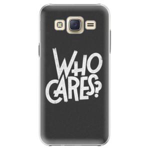 Plastové pouzdro iSaprio Who Cares na mobil Samsung Galaxy J5