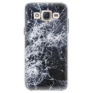 Plastové pouzdro iSaprio Cracked na mobil Samsung Galaxy J5