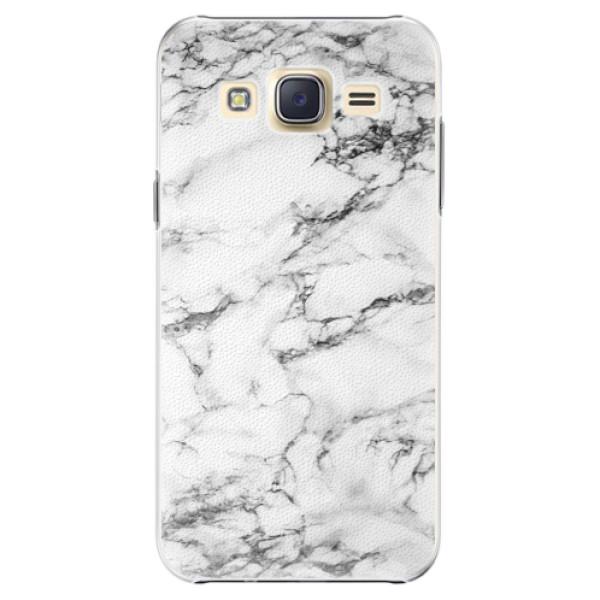 Plastové pouzdro iSaprio white Marble 01 na mobil Samsung Galaxy J5 (Plastový obal, kryt, pouzdro iSaprio white Marble 01 na mobilní telefon Samsung Galaxy J5)