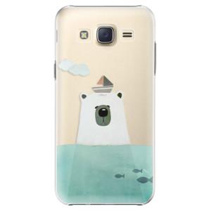 Plastové pouzdro iSaprio Bear With Boat na mobil Samsung Galaxy J5