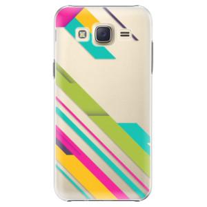 Plastové pouzdro iSaprio Color Stripes 03 na mobil Samsung Galaxy J5