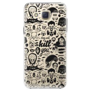 Plastové pouzdro iSaprio Comics 01 black na mobil Samsung Galaxy J5