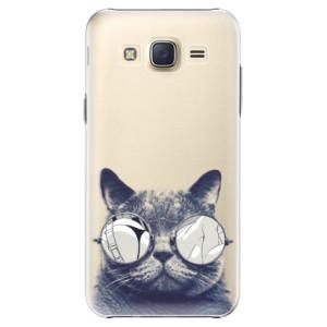 Plastové pouzdro iSaprio Crazy Cat 01 na mobil Samsung Galaxy J5