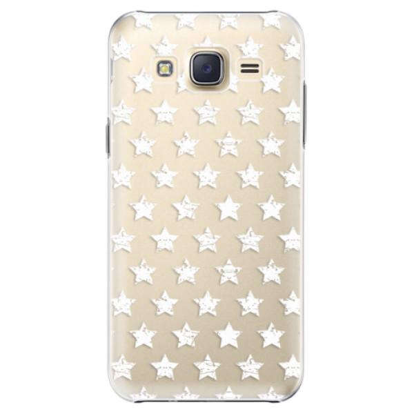 Plastové pouzdro iSaprio Stars Pattern white na mobil Samsung Galaxy J5 (Plastový obal, kryt, pouzdro iSaprio Stars Pattern white na mobilní telefon Samsung Galaxy J5)