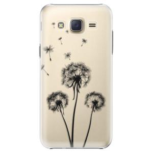 Plastové pouzdro iSaprio Three Dandelions black na mobil Samsung Galaxy J5