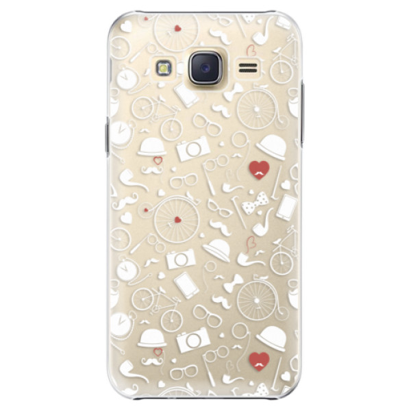 Plastové pouzdro iSaprio Vintage Pattern 01 white na mobil Samsung Galaxy J5 (Plastový obal, kryt, pouzdro iSaprio Vintage Pattern 01 white na mobilní telefon Samsung Galaxy J5)