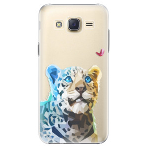 Plastové pouzdro iSaprio Leopard With Butterfly na mobil Samsung Galaxy J5