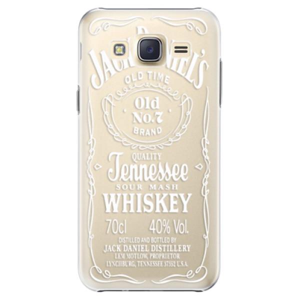 Plastové pouzdro iSaprio Transparent White Jack na mobil Samsung Galaxy J5 (Plastový obal, kryt, pouzdro iSaprio Transparent White Jack na mobilní telefon Samsung Galaxy J5)