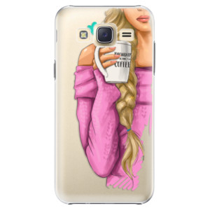 Plastové pouzdro iSaprio My Coffe and Blond Girl na mobil Samsung Galaxy J5