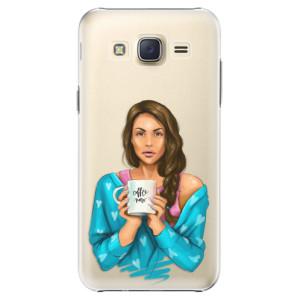 Plastové pouzdro iSaprio Coffe Now Brunette na mobil Samsung Galaxy J5