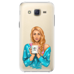 Plastové pouzdro iSaprio Coffe Now Redhead na mobil Samsung Galaxy J5