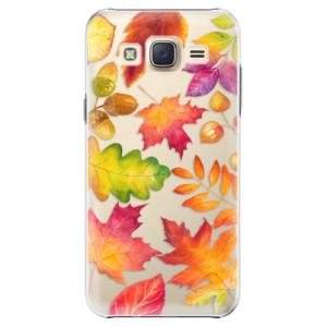 Plastové pouzdro iSaprio Autumn Leaves 01 na mobil Samsung Galaxy J5