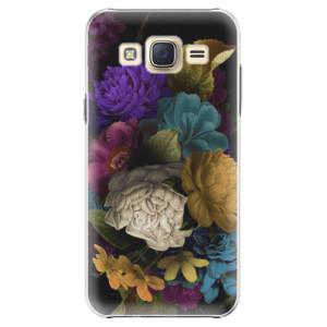 Plastové pouzdro iSaprio Dark Flowers na mobil Samsung Galaxy J5