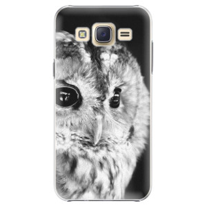 Plastové pouzdro iSaprio BW Owl na mobil Samsung Galaxy J5
